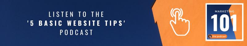 basic website tips podcast - marketing 101 - marketing consultant